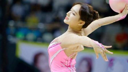 程潇艺术体操表演,这实力真不是专业运动员?看傻一众韩国评委