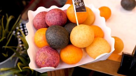 泰国街头美食——油炸红薯球!