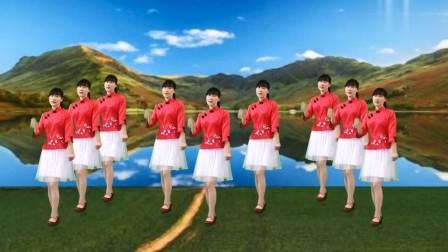 广场舞《红尘花一朵》抒情32步,好听又好看!