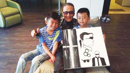 张柏芝带儿子去谢贤家庆生时,大儿子一句话,让谢贤瞬间老泪纵横