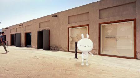 兔斯基带你游览迪拜老城区