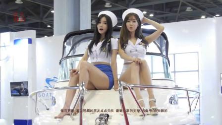 20190908韩国模特在游艇上做展示