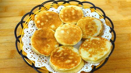 一碗面,2个鸡蛋,一杯水,不揉面,不擀面,简单快速做早餐饼