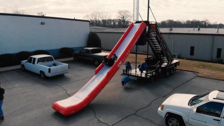"""大叔发明""""充气""""逃生滑梯,6秒内迅速展开,3秒逃离到地面"""