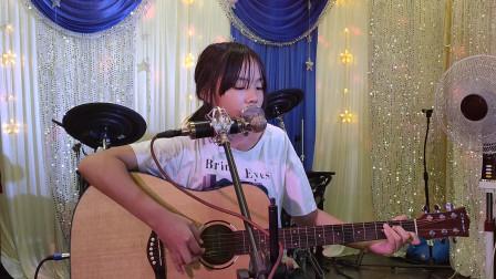 王金慧同学学习吉他视频《两只老虎》