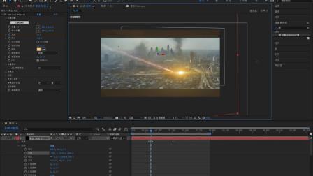 pr/ae短视频教程抖音视频剪辑教程 城市烟火合成特效下集