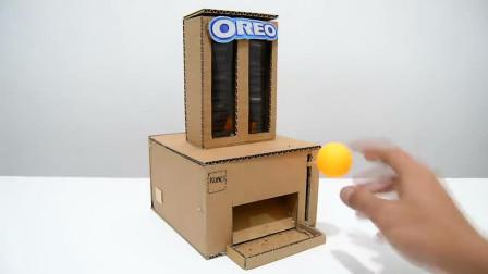 老外用纸板制作饼干机,看到最后的成品,结果出乎意料