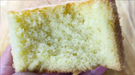 海绵蛋糕的家常做法,无需分蛋,一次打发,蛋香浓郁,超好吃!