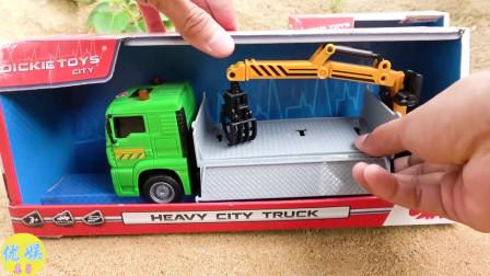 拆封玩具救援车 出警救援玩具互动
