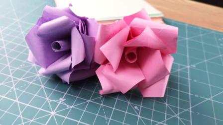 玫瑰花手工折纸大全:随手几张纸折出漂亮玫瑰花 五分钟保证学会