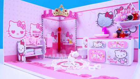 微世界DIY:迷你凯蒂猫主题浴室