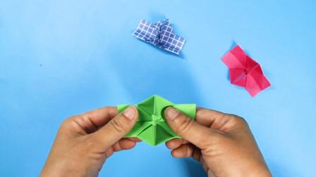 一张纸折的相机,拉一下就可以照相,做起来也不复杂