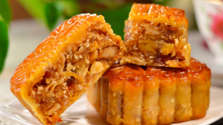 五仁月饼的家常做法,不放添加剂,香甜适口,中秋节做给家人吃