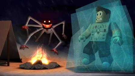 小格解说  Roblox 雪山故事模拟器:遭遇可怕雪怪!差点被冰冻?乐高小游戏