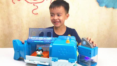 海底小纵队第4季鲸鲨艇大堡礁救援玩具