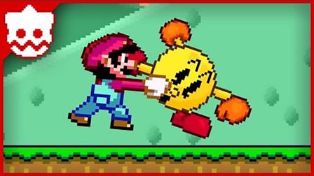 超级玛丽:马里奥超搞笑动画,吃豆人激战马里奥