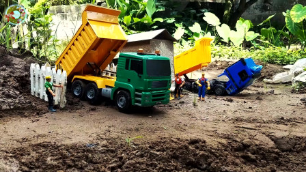 工程车玩具,救援重型汽车玩具,大型起重机玩具