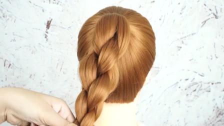 丸子头怎么扎好看?加上四股圆辫,完美发型原来是这样来的