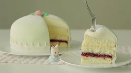甜品店里贵贵的瑞典公主蛋糕,原来做法这么简单,免费教程给你啦