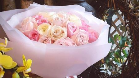 花艺视频教程 现代式花束包装课程 花艺培训 花艺插花 包花教程 包装花束 花艺技术 花艺课程 花艺在线