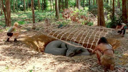 影视:巨型蟒蛇吃了男子的妻子,为了报仇,设下陷阱苦等五年!