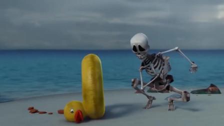爆笑虫子:海盗们洗劫了小岛上的一切,连小黄鸭也没躲过灾难