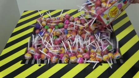 300个棒棒糖vs液压机, 棒棒糖会变成什么样子?一起见识下!