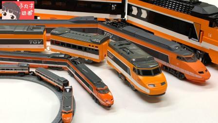 托马斯小火车圆形轨道玩具 新干线磁悬浮列车排队前进
