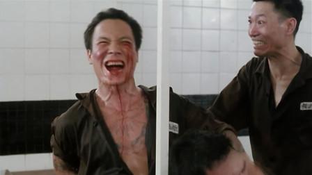 监狱风云:洪兴大B哥也有今天!在监狱里被骷髅头一棍子插死了!