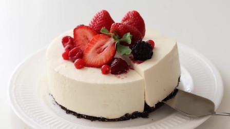 草莓芝士蛋糕 免烤 颜值担当 奶香浓郁 香甜芝士蛋糕 草莓控