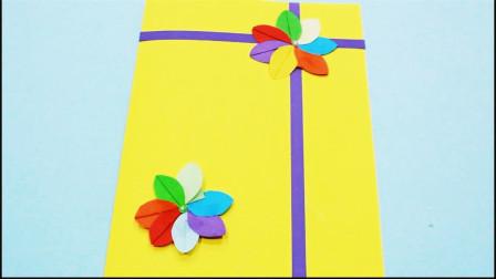 儿童手工制作大全 精美的贺卡制作 花朵贺卡