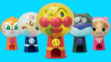 面包超人趣味玩具 5款不同角色的迷你扭蛋机
