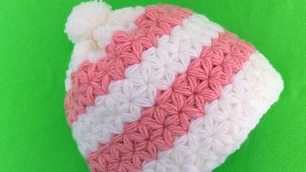 网红茉莉花毛线帽,冬日出街利器,第一部分
