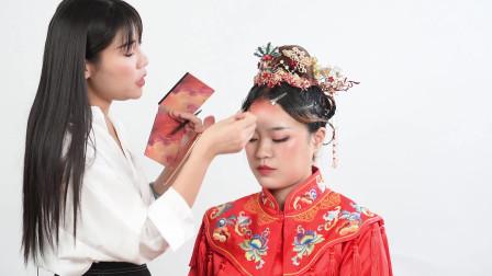 新娘跟妆造型,鸿运当头精致秀和妆-济南化妆学校教学视频,