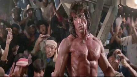 第一滴血:兰博与人单挑,这一身强壮的肌肉,真是令人羡慕!