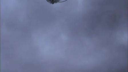 洪水淹没城镇 百姓都爬上了屋顶 没想到空中竟出现了一条巨龙