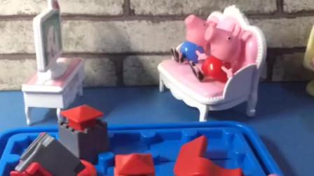 猪爸爸买了一个新玩具,说是给乔治佩奇的,其实是给自己买的吧