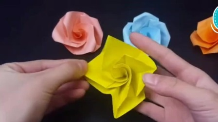 手工折纸一一玫瑰花(中秋节快乐)