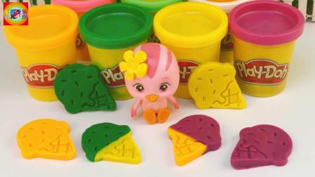 寓教于乐彩泥 第一季 彩泥制作中秋节月饼!萌鸡小队朵朵分享过家家亲子玩具