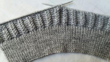 单色针织设计,图案精致大方,针法简单好织,给男士织套衫很不错