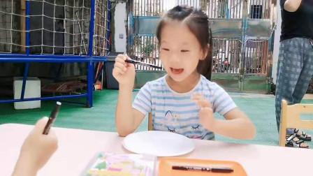 幼儿园举行中秋活动,孩子们画月饼喜迎中秋,祝大中中秋快乐