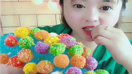 小姐姐今天吃的糖真漂亮,太让人羡慕了!