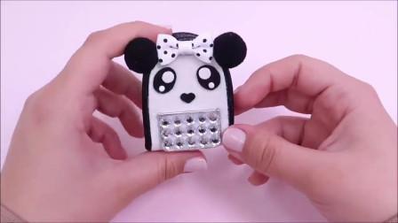 微世界DIY:迷你熊猫书包