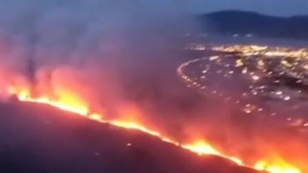 新闻直播间 2019 巴西亚马孙雨林再燃大火,干燥天气致南部国家公园燃起山火