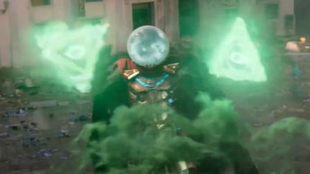 山寨钢铁侠带着怪兽袭击人类,被蜘蛛侠给打败,漫威最新科幻电影