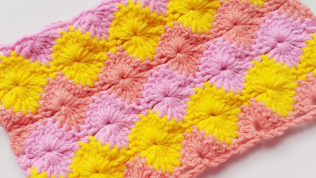 钩针编织样式缤纷绚丽的花样钩织毯子包包如同百花宴花样大全