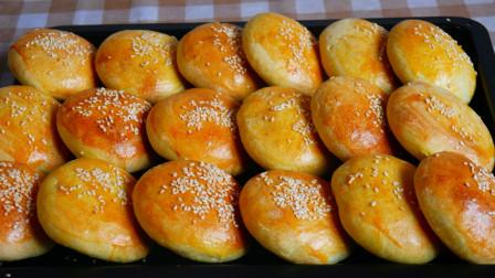 """内蒙特色美食""""混糖月饼"""",做法简单,香甜暄软,烤2大盘不够吃"""
