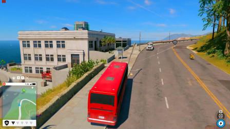 我的大巴车直接闯进了篮球场,这里的敌人都不打我