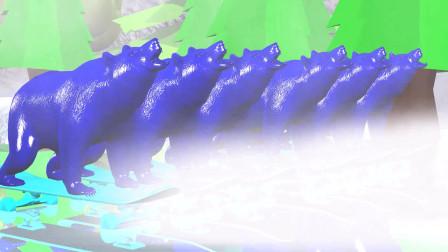 趣味益智动画片 冰天雪地里的各种动物