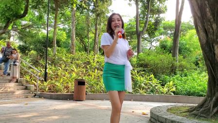 香港屯门歌手君君演唱《恰似你的温柔》,收到很多的红包
